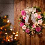 メニークリスマス リース撮影